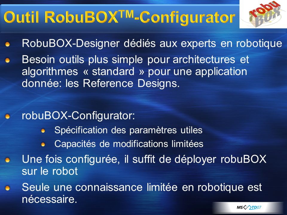 Outil RobuBOXTM-Configurator