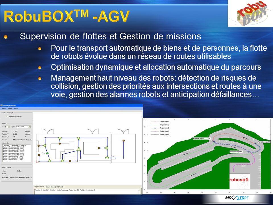 RobuBOXTM -AGV Supervision de flottes et Gestion de missions