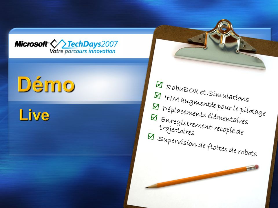 Démo Live RobuBOX et Simulations IHM augmentée pour le pilotage