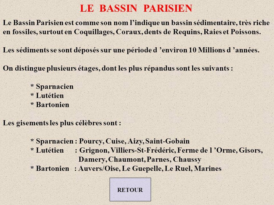 LE BASSIN PARISIEN Le Bassin Parisien est comme son nom l'indique un bassin sédimentaire, très riche.