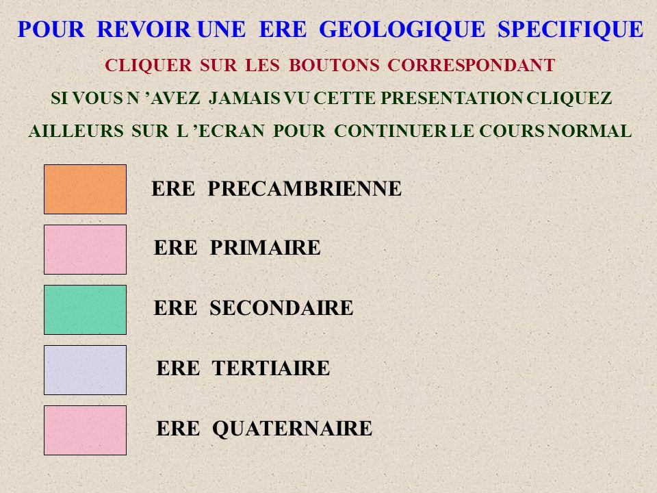POUR REVOIR UNE ERE GEOLOGIQUE SPECIFIQUE