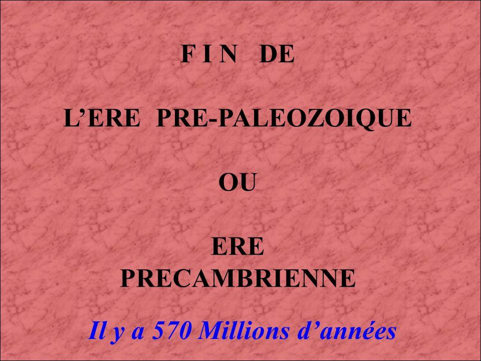 L'ERE PRE-PALEOZOIQUE