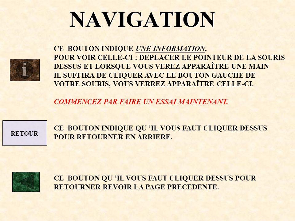 NAVIGATION CE BOUTON INDIQUE UNE INFORMATION.