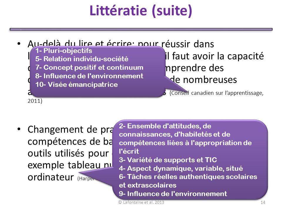 Littératie (suite)
