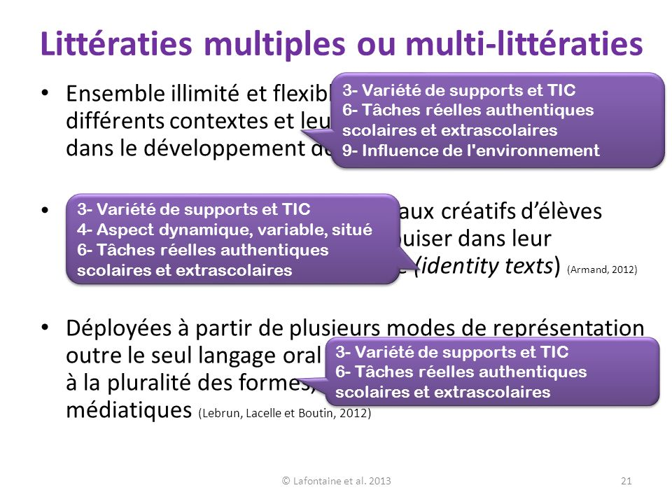 Littératies multiples ou multi-littératies