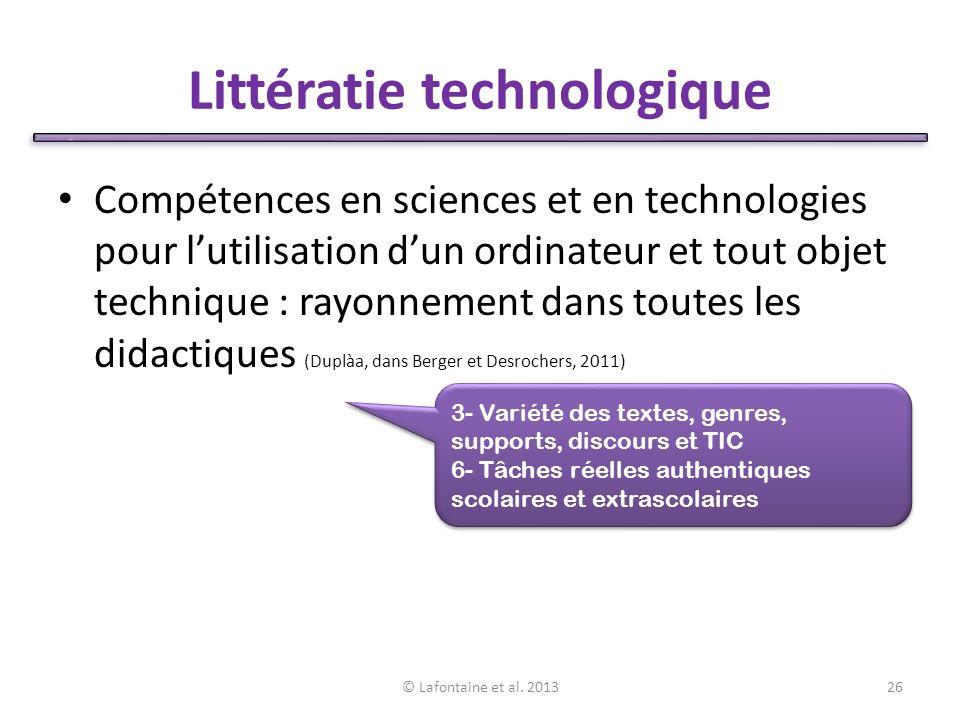 Littératie technologique