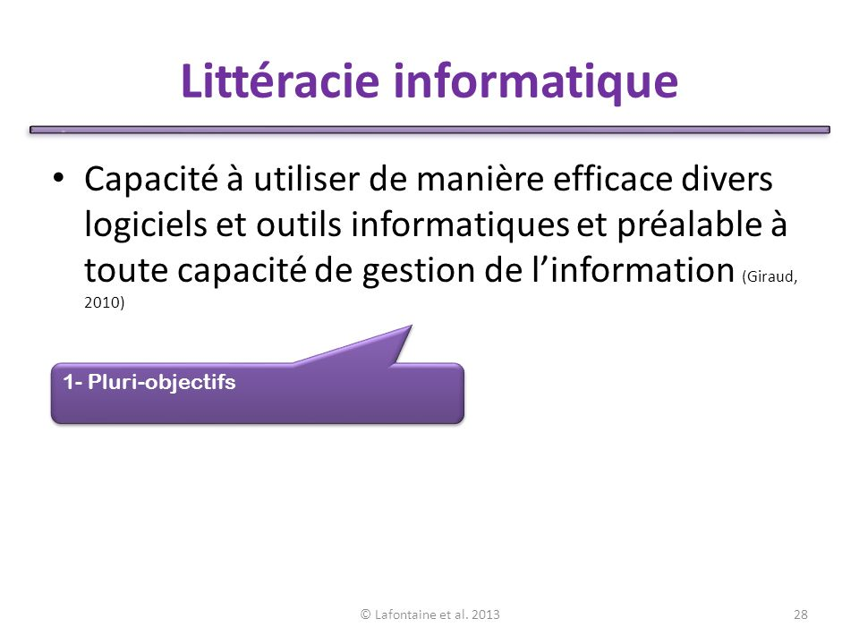 Littéracie informatique