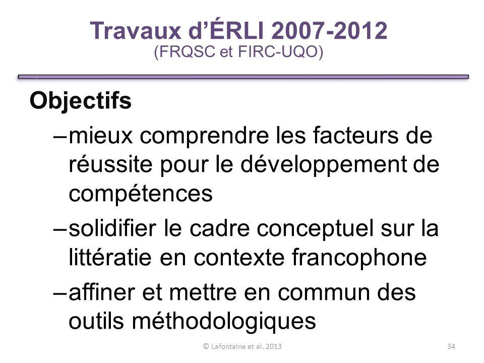 Travaux d'ÉRLI 2007-2012 (FRQSC et FIRC-UQO)
