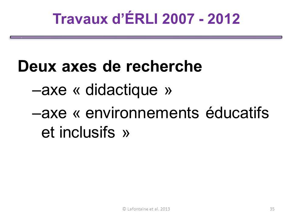 axe « environnements éducatifs et inclusifs »