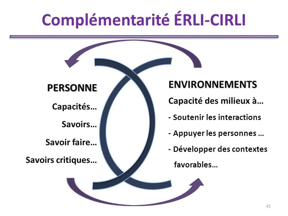 Complémentarité ÉRLI-CIRLI