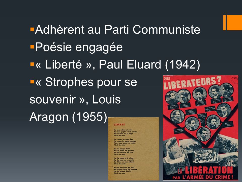 Adhèrent au Parti Communiste
