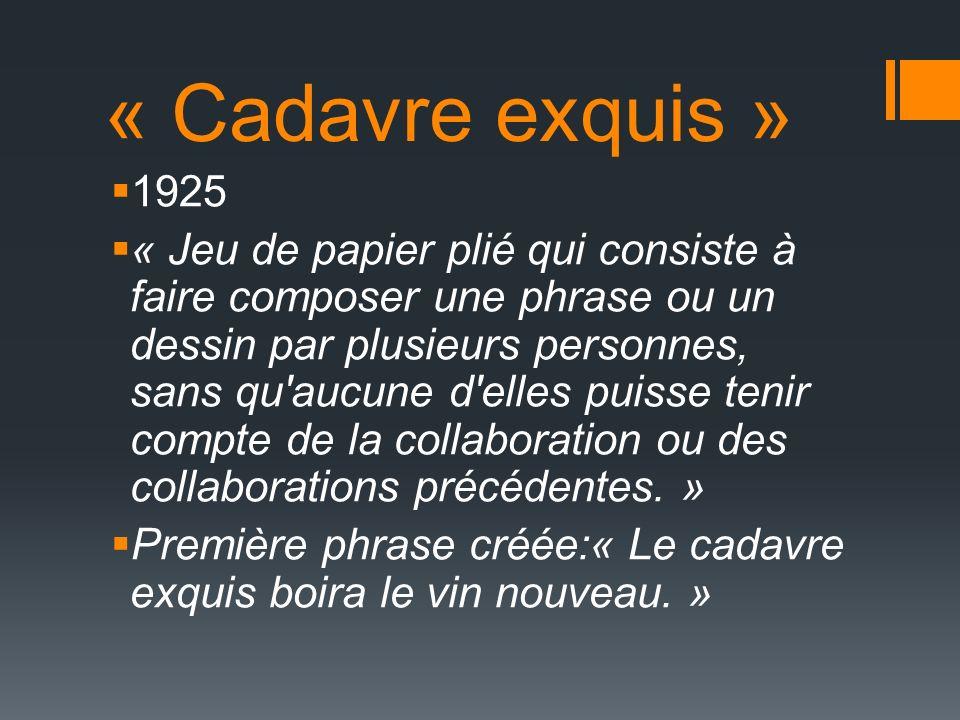 « Cadavre exquis » 1925.