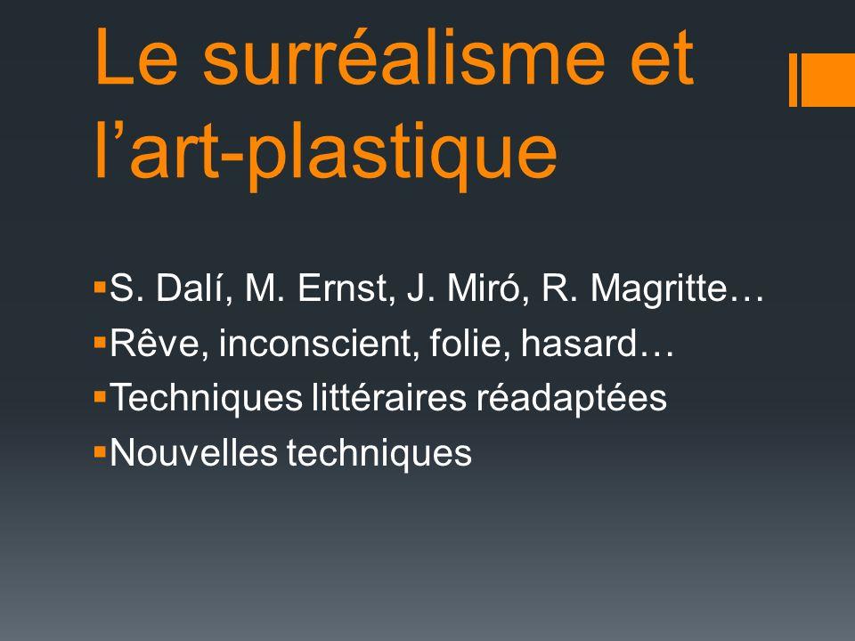 Le surréalisme et l'art-plastique