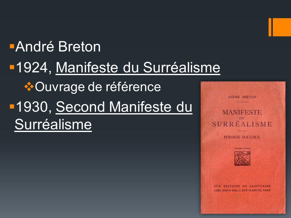 1924, Manifeste du Surréalisme 1930, Second Manifeste du Surréalisme