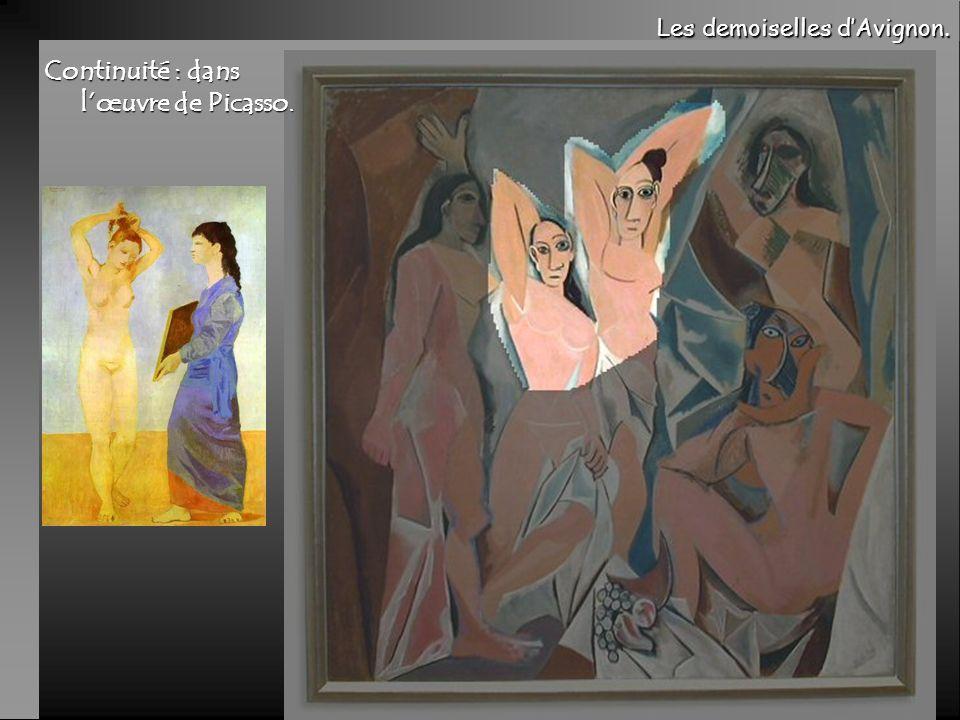 Continuité : dans l'œuvre de Picasso.