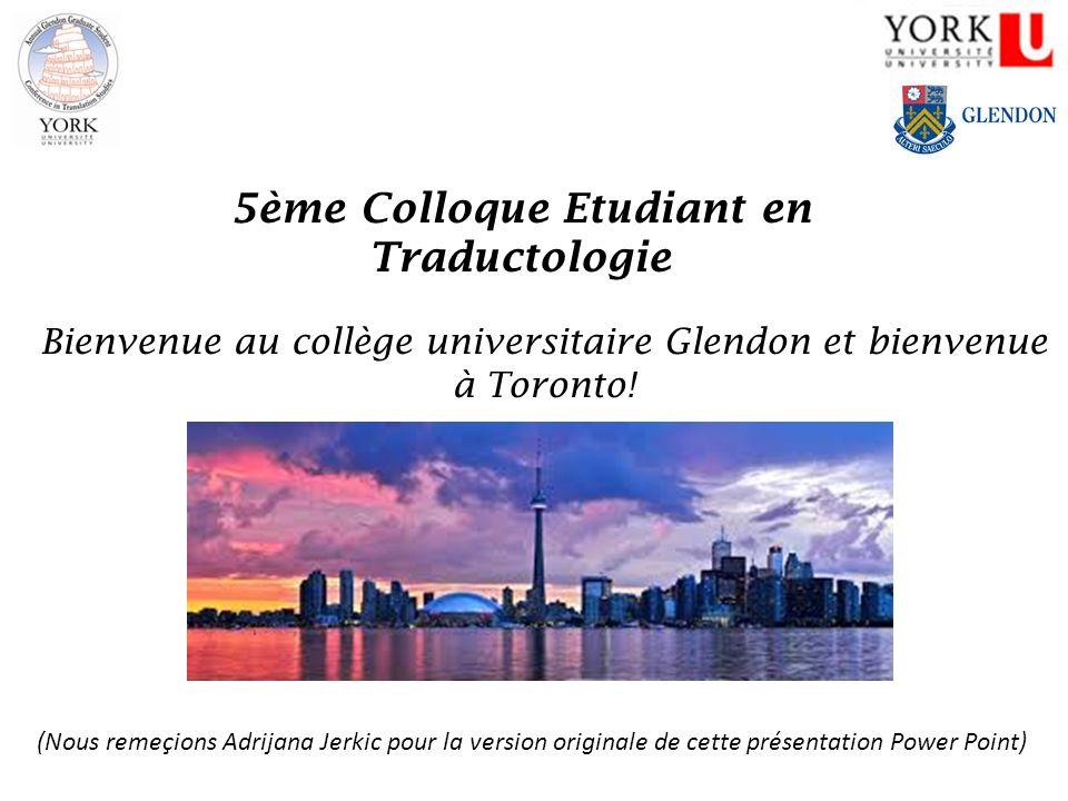 5ème Colloque Etudiant en Traductologie