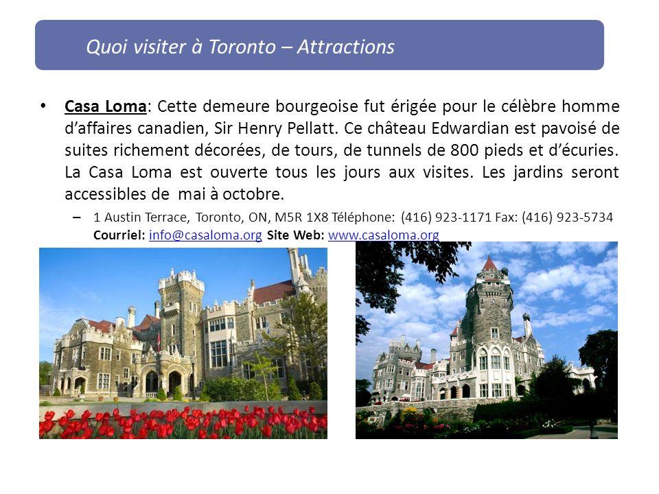 Quoi visiter à Toronto – Attractions