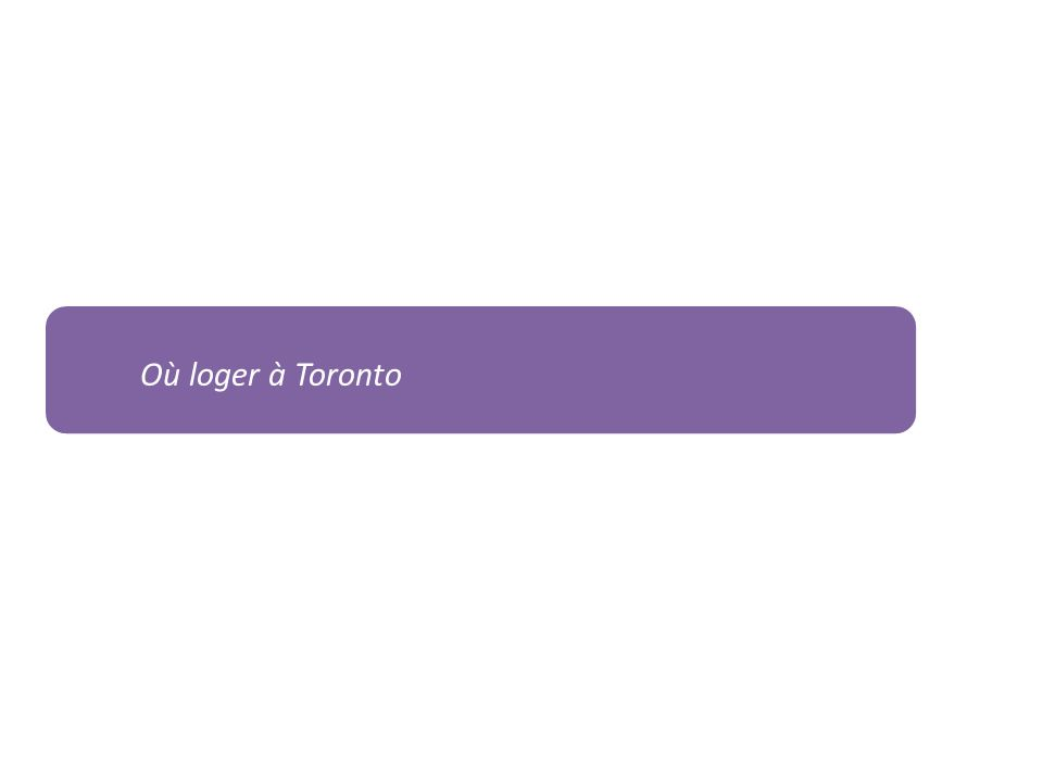 Où loger à Toronto