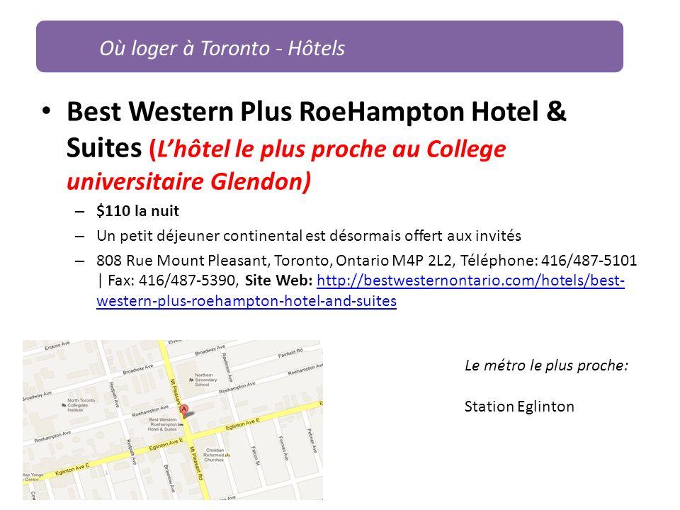 Où loger à Toronto - Hôtels