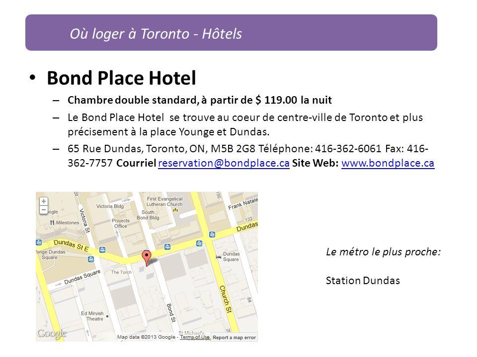 Bond Place Hotel Où loger à Toronto - Hôtels
