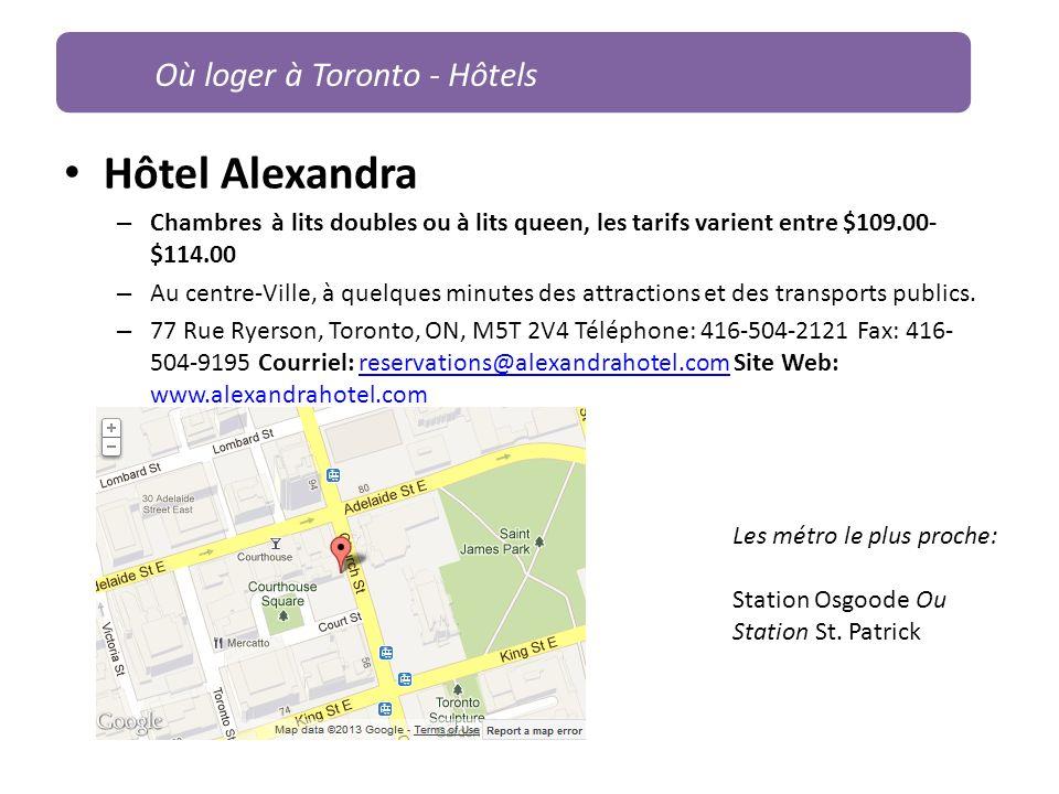 Hôtel Alexandra Où loger à Toronto - Hôtels