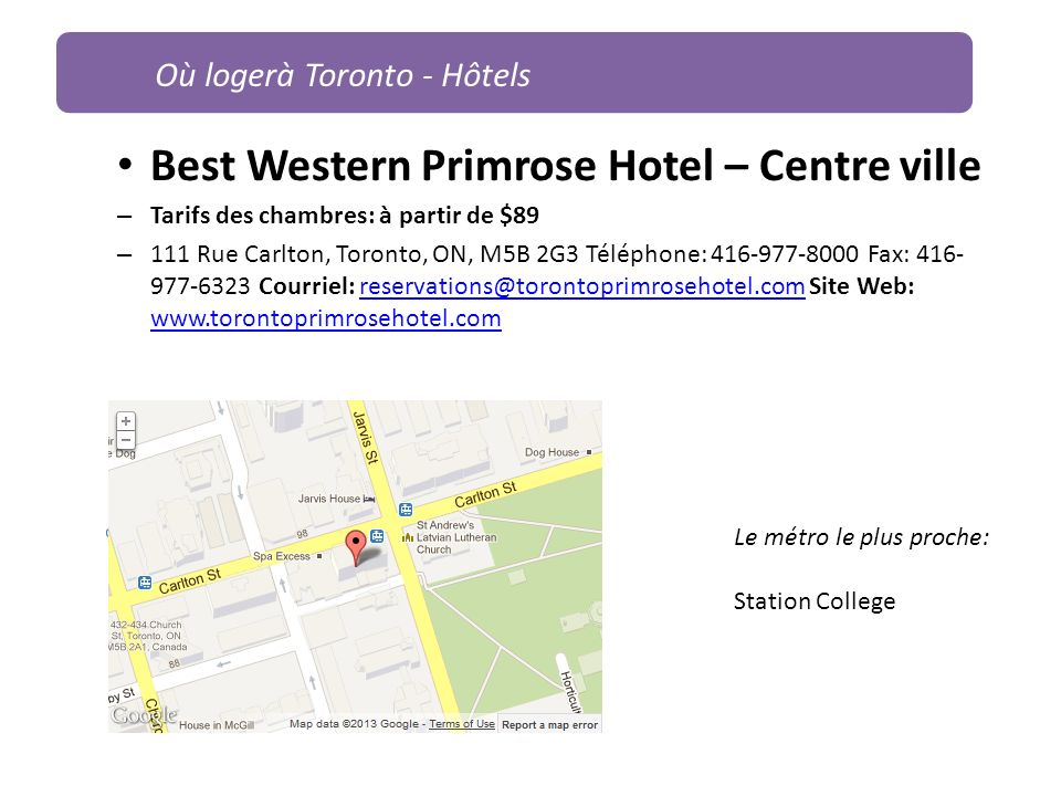 Best Western Primrose Hotel – Centre ville
