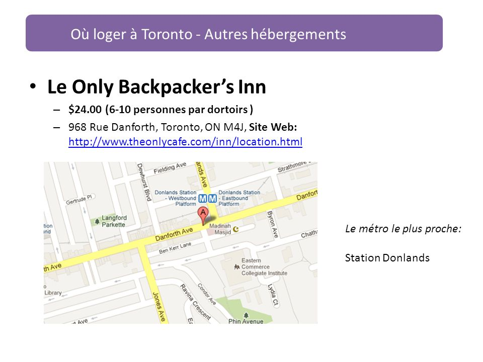 Le Only Backpacker's Inn