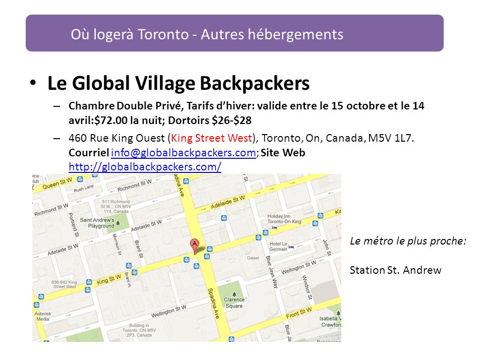 Le Global Village Backpackers