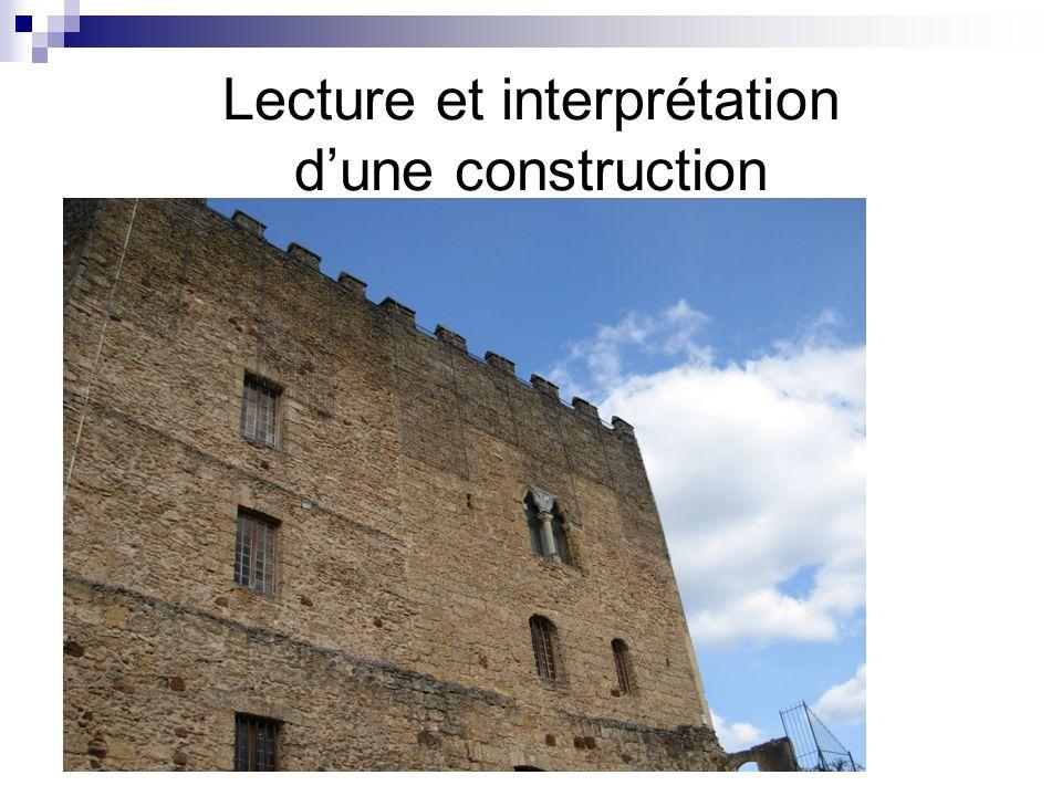 Lecture et interprétation d'une construction