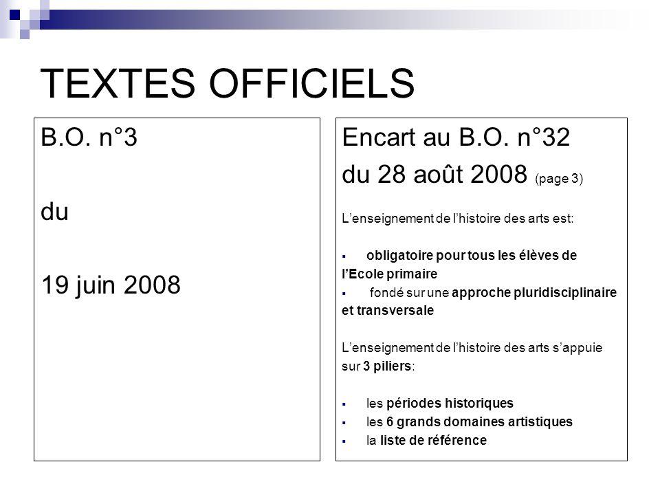 TEXTES OFFICIELS B.O. n°3 du 19 juin 2008 Encart au B.O. n°32