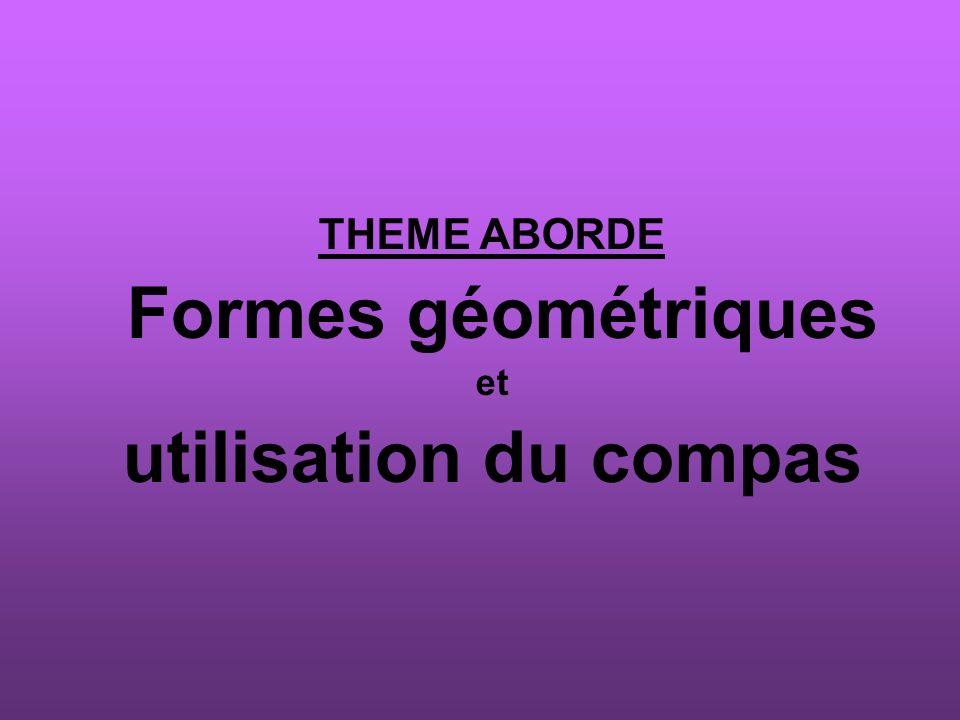 Formes géométriques utilisation du compas