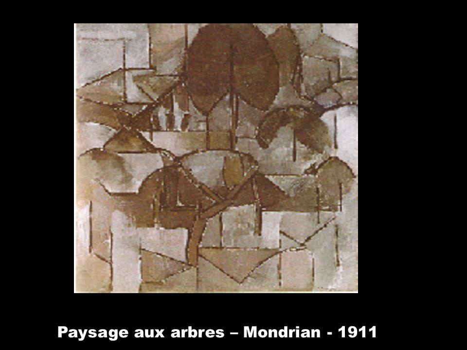 Paysage aux arbres – Mondrian - 1911