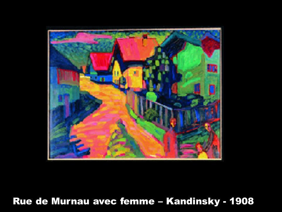 Rue de Murnau avec femme – Kandinsky - 1908