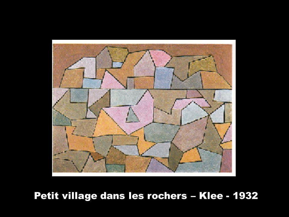 Petit village dans les rochers – Klee - 1932