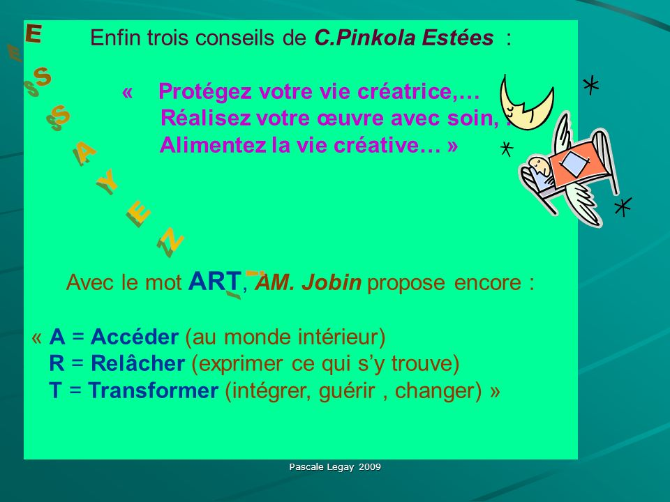 Alimentez la vie créative… »