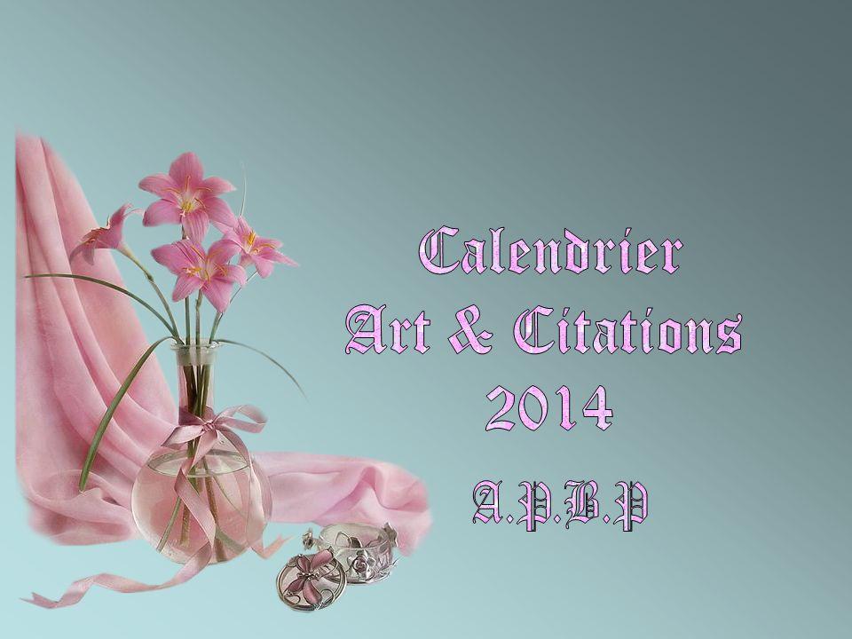Calendrier Art & Citations 2014