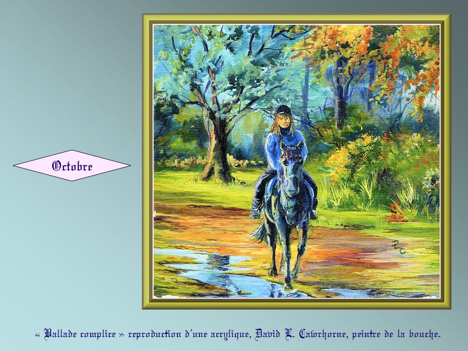 Octobre « Ballade complice » reproduction d'une acrylique, David L.