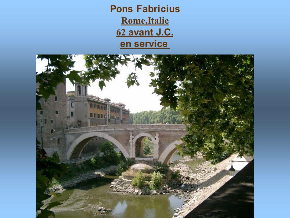 Pons Fabricius Rome,Italie 62 avant J.C. en service