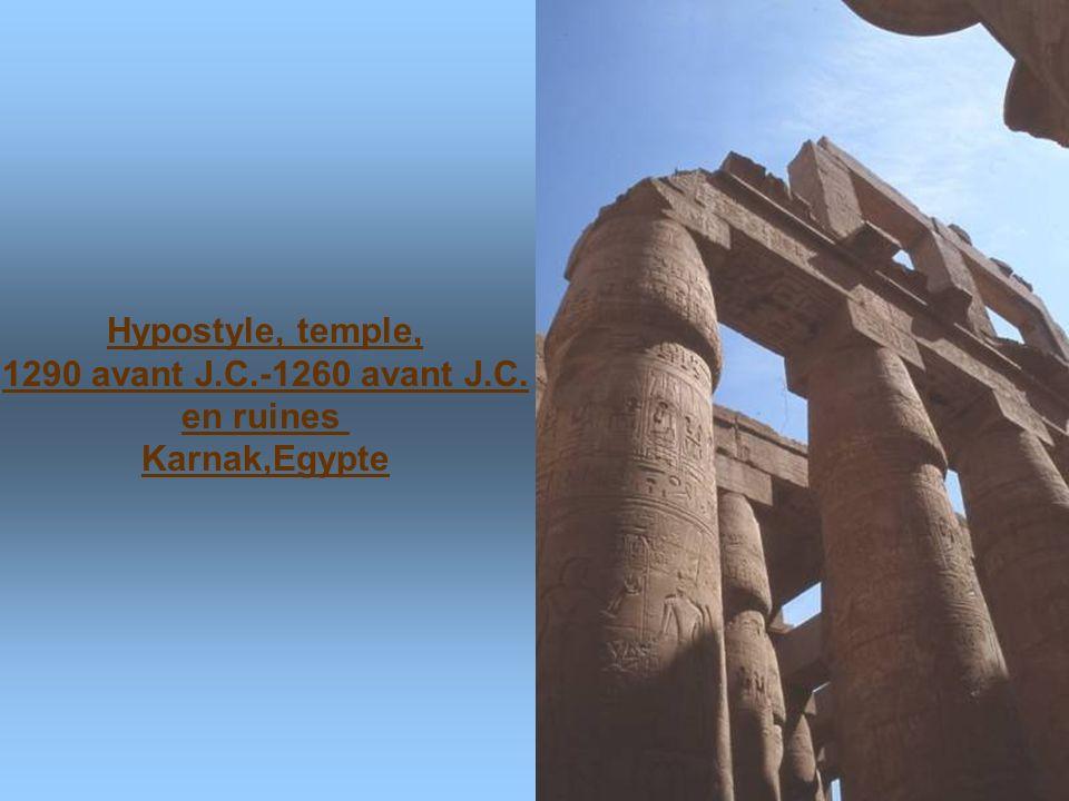 Hypostyle, temple, 1290 avant J.C.-1260 avant J.C. en ruines Karnak,Egypte