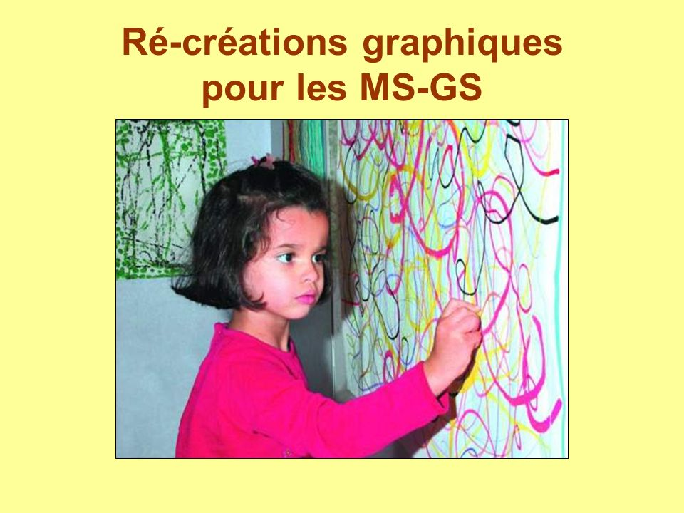 Ré-créations graphiques pour les MS-GS