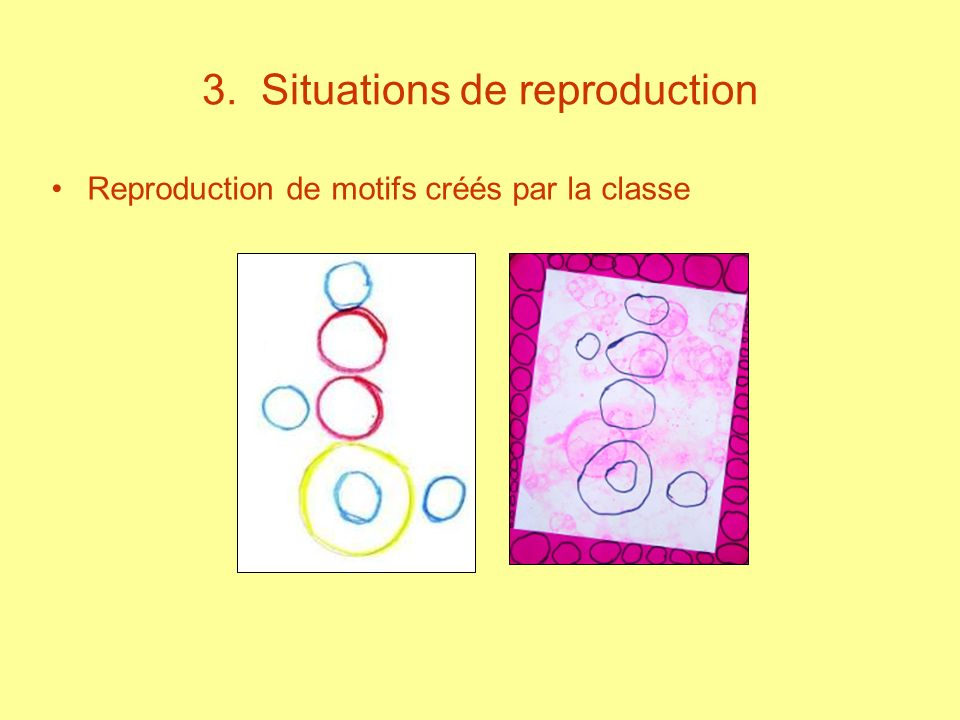 3. Situations de reproduction