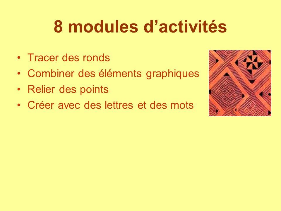 8 modules d'activités Tracer des ronds