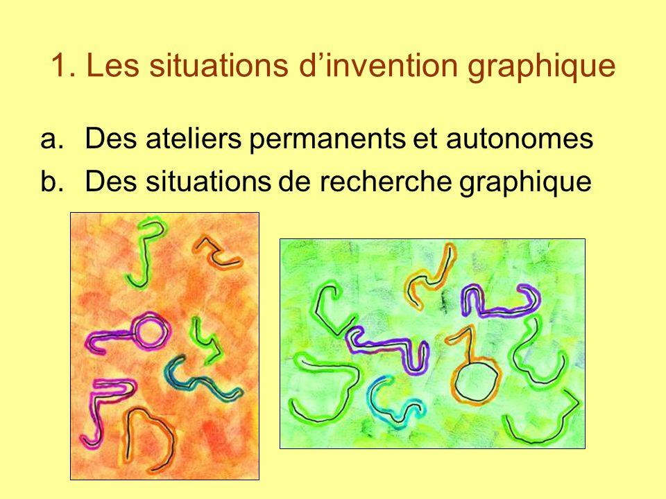 1. Les situations d'invention graphique