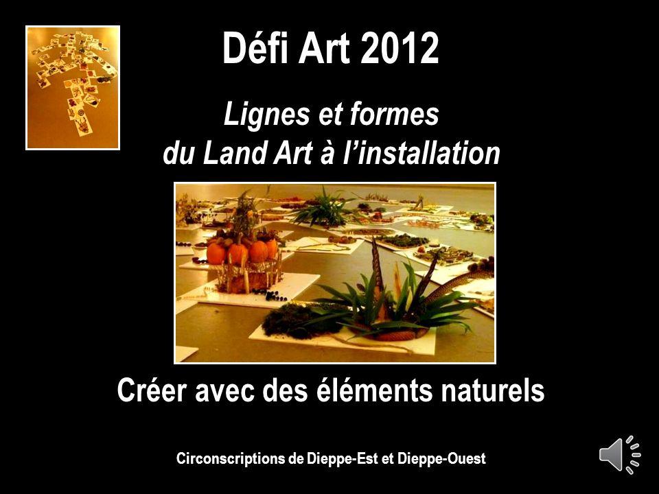 Défi Art 2012 Lignes et formes du Land Art à l'installation