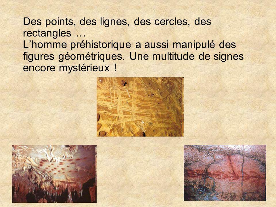 Des points, des lignes, des cercles, des rectangles … L'homme préhistorique a aussi manipulé des figures géométriques.