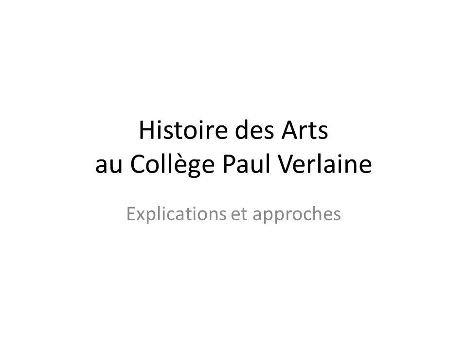 Histoire des Arts au Collège Paul Verlaine