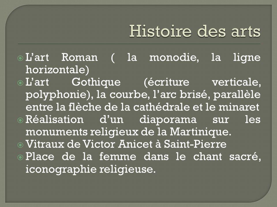 Histoire des arts L'art Roman ( la monodie, la ligne horizontale)