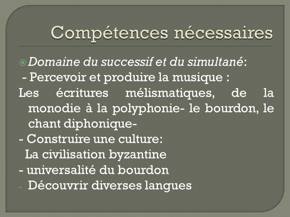 Compétences nécessaires