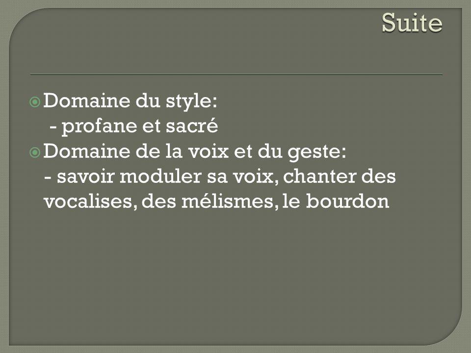 Suite Domaine du style: - profane et sacré