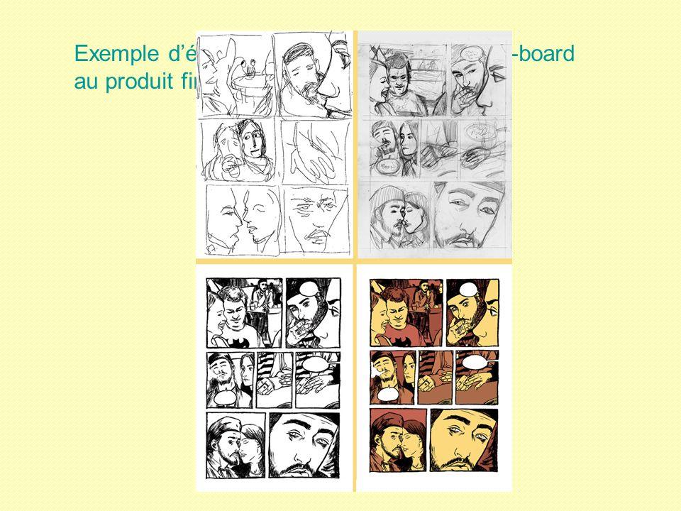 Exemple d'élaboration pour la BD : du story-board au produit fini !
